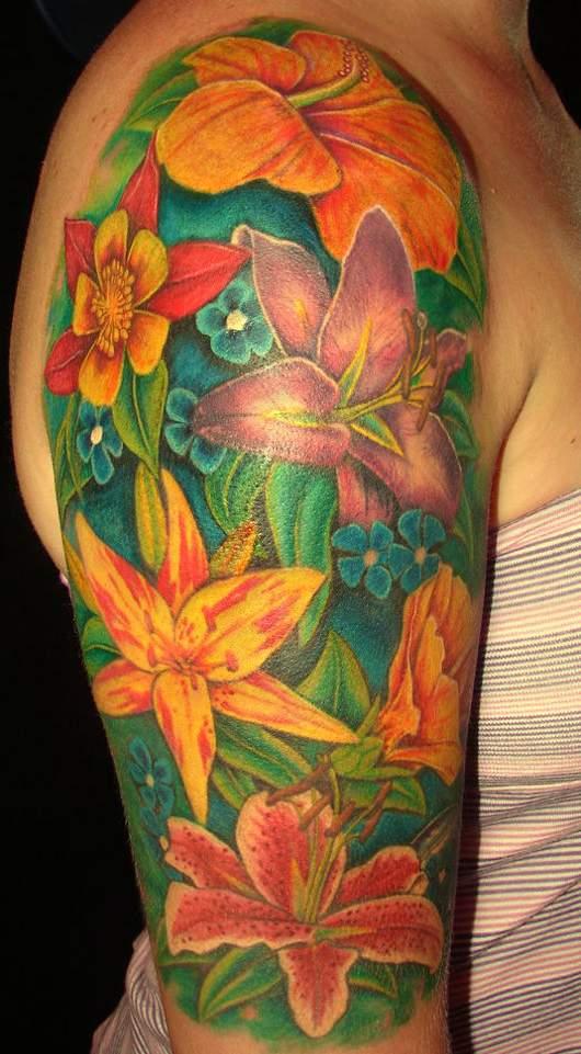 Kolorowe Tatuaże Kwiaty Artykuły Blogi Na Różne Tematy