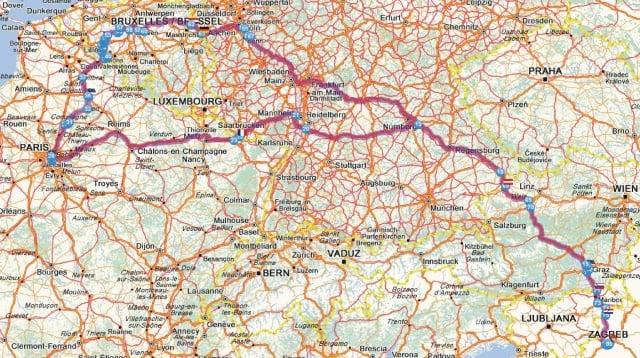 Karta Austrije I Njemacke Karta